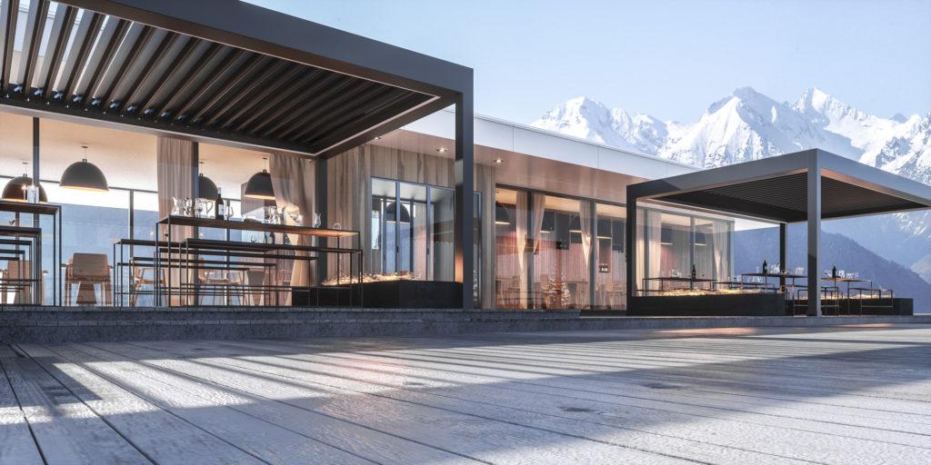 Stabiler Terrassen-Pavillon